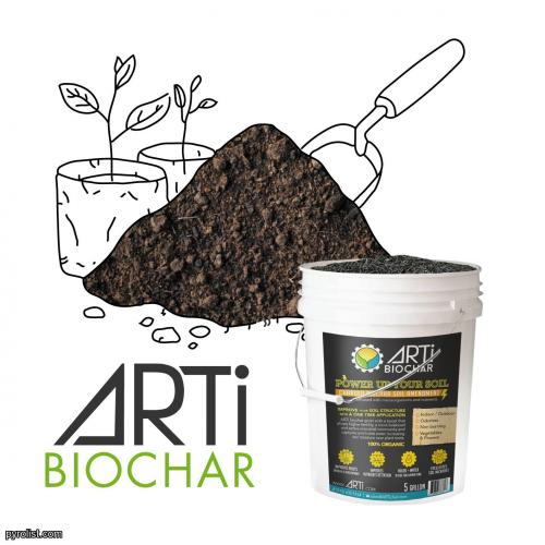ARTi Biochar produced from sustainable biomass - 5 gal pail