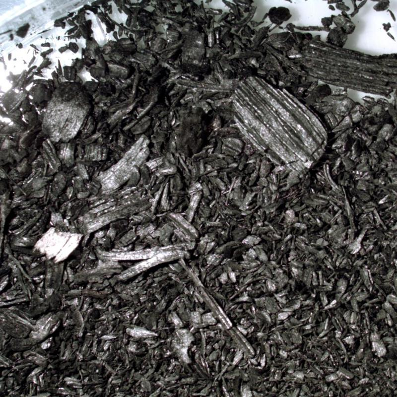 Biochar from virgin Softwood